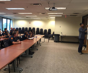 Fellows presenting to the staff at Oklahoma City Fire Dept