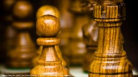 Chess pieces pawn and rook