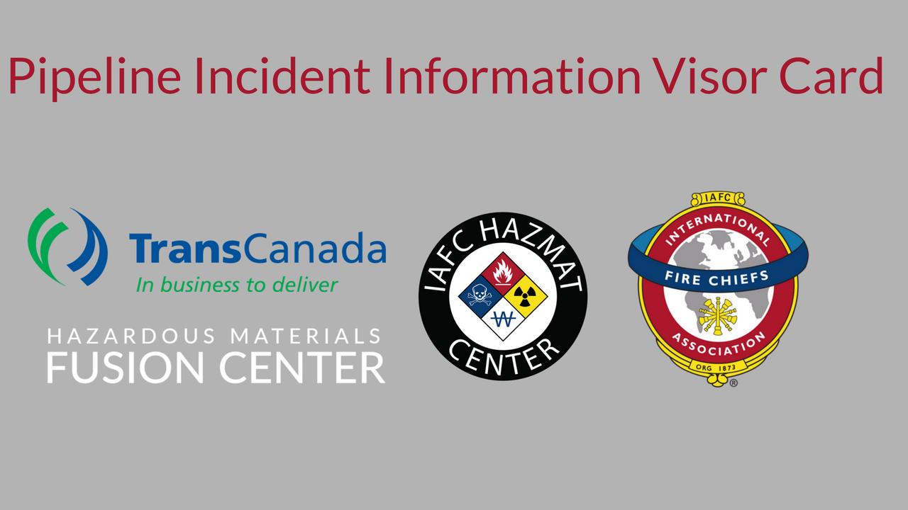 Pipeline Incident Information Visor Card