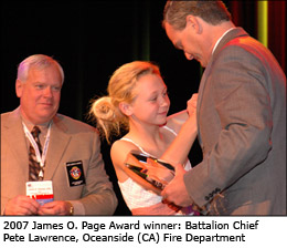 2007 James O. Page Award winner: Battalion Chief Pete Lawrence, Oceanside (CA) Fire Department
